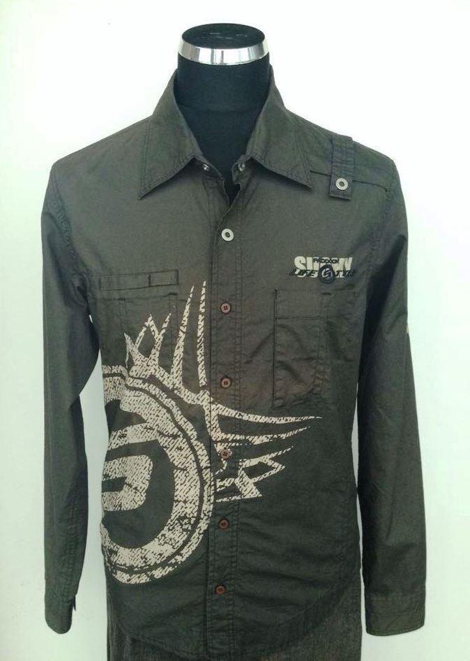 timeless design 03568 86824 Suomy camicia uomo verde militare