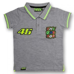 VR46 polo kids Valentino Rossi gray The Doctor