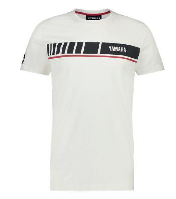 huge selection of 64e6c 48682 Yamaha REVS T-shirt SS Big Stripe Winton white