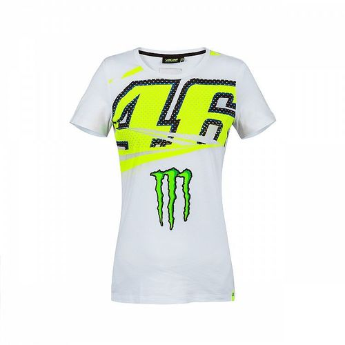 VR46 T-shirt donna bianca Monster 46