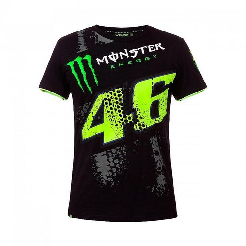 VR46 t-shirt Valentino Rossi Monster Energy nera