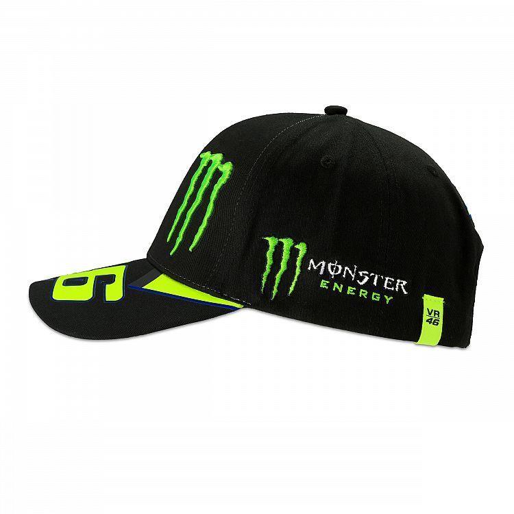 VR46 Man black cap Monster Replica Valentino Rossi