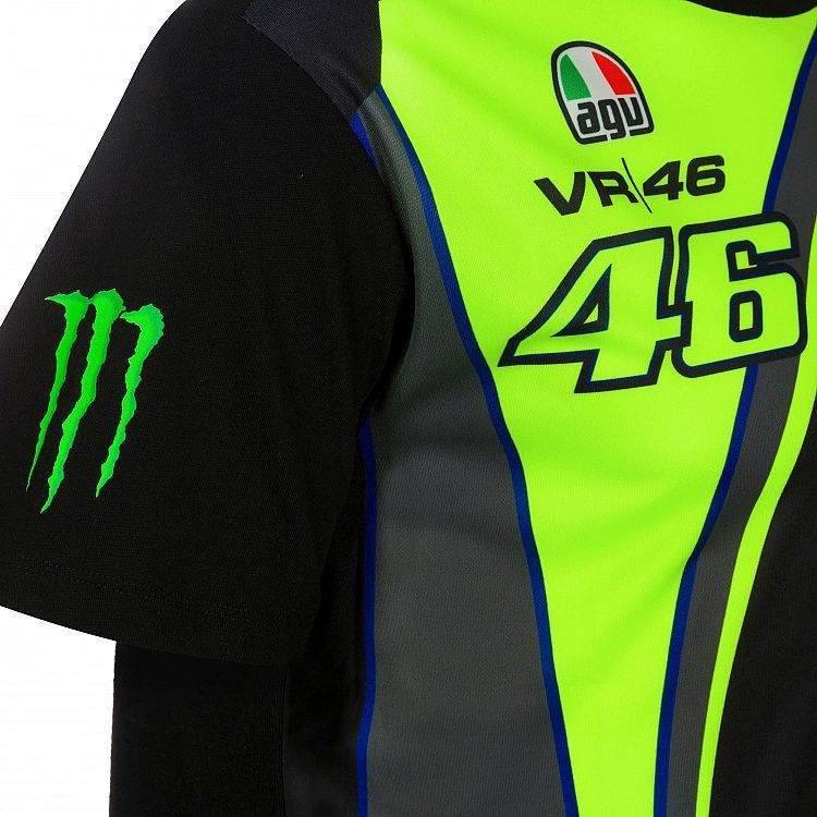 58d3180ab936 VR46 Man black t-shirt Monster Valentino Rossi