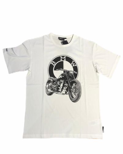 Bmw Motorrad t-shirt Heritage dealershirt bianca